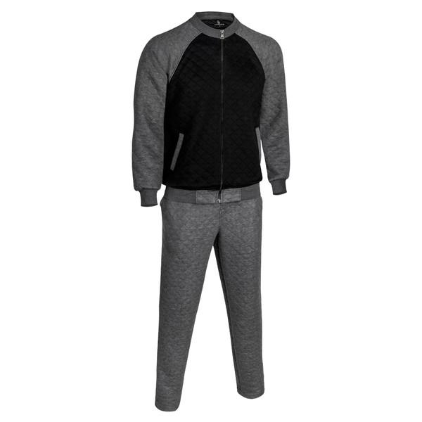 ست سویشرت و شلوار ورزشی مردانه ساروک مدل E3 رنگ ملانژ تیره