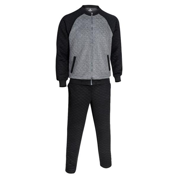 ست سویشرت و شلوار ورزشی مردانه ساروک مدل E3 رنگ مشکی