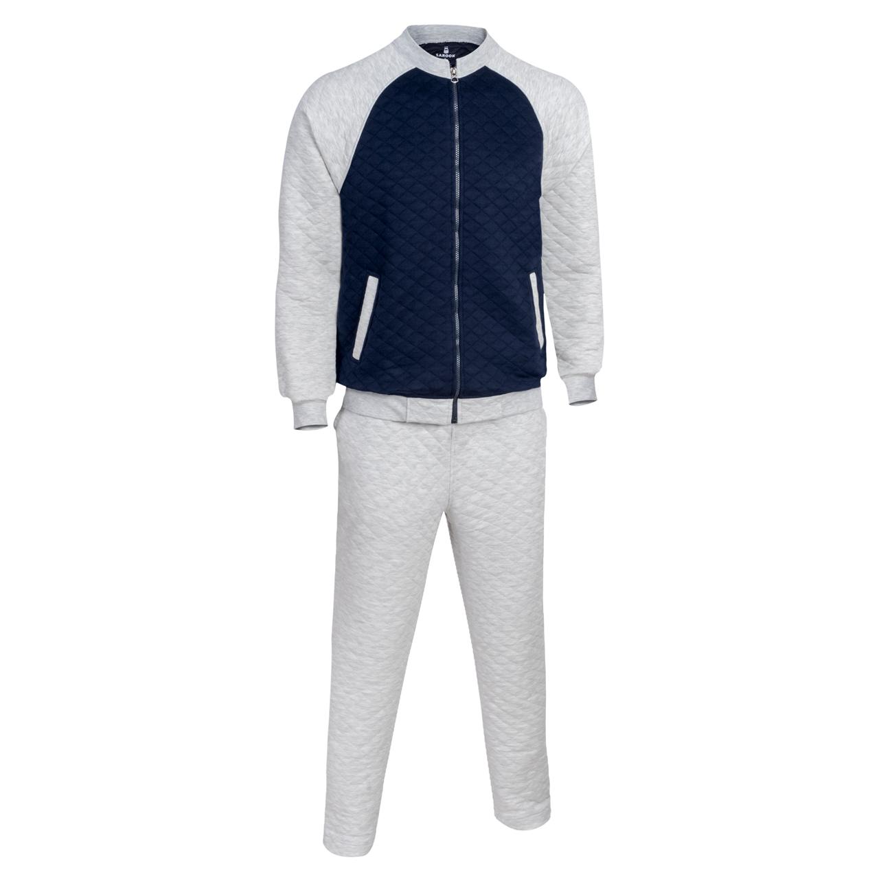 ست سویشرت و شلوار ورزشی مردانه ساروک مدل E2 رنگ ملانژ روشن