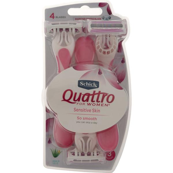 خودتراش زنانه شیک مدل Quattro بسته 3 عددی