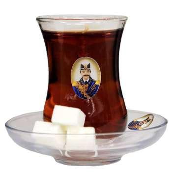 شمع طرح چای مدل شاه عباسی