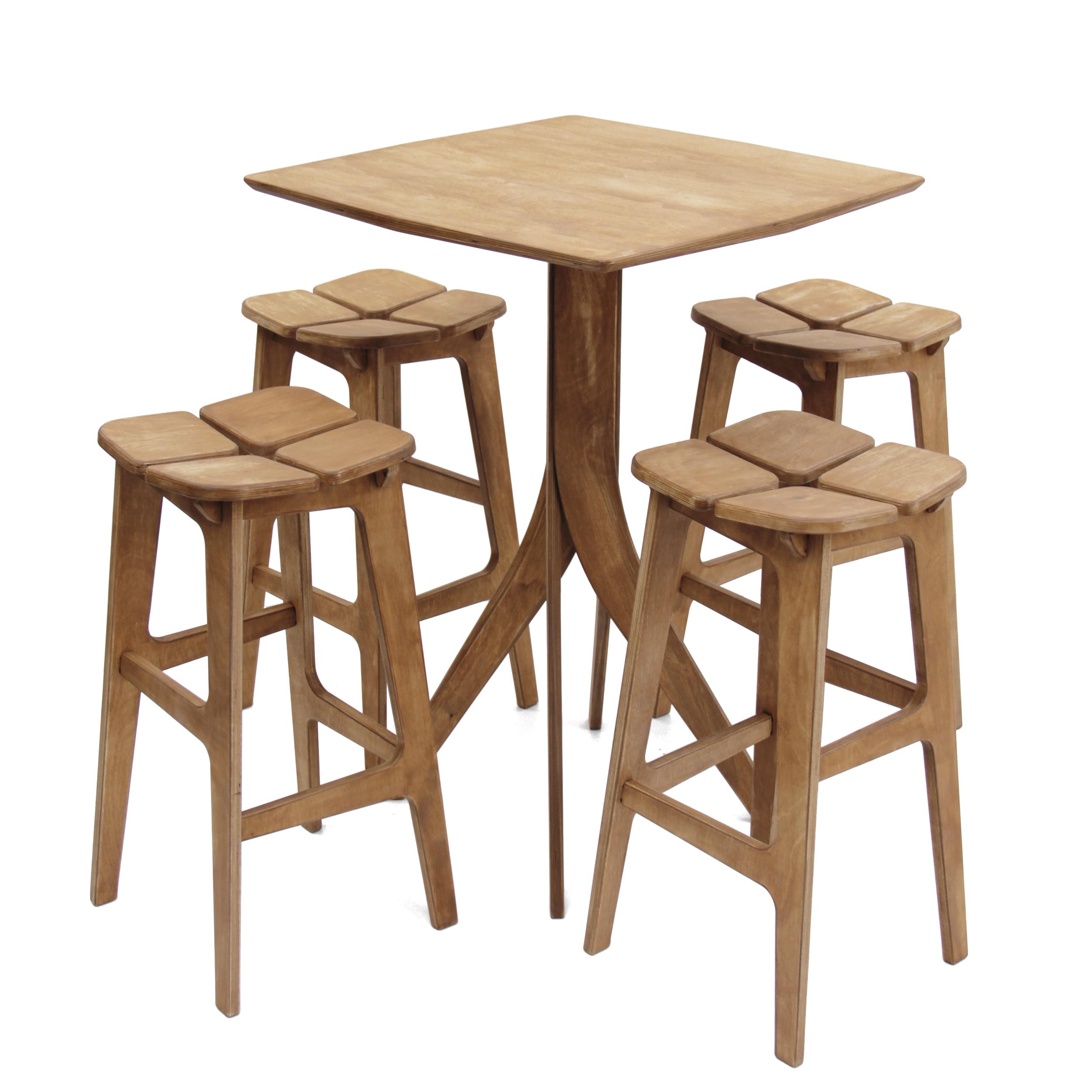 ست میز و صندلی ناهار خوری ریتون طرح تترا