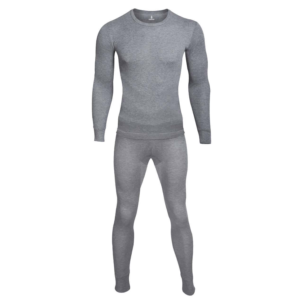ست بلوز و شلوار مردانه ساروک مدل C رنگ ملانژ سیر