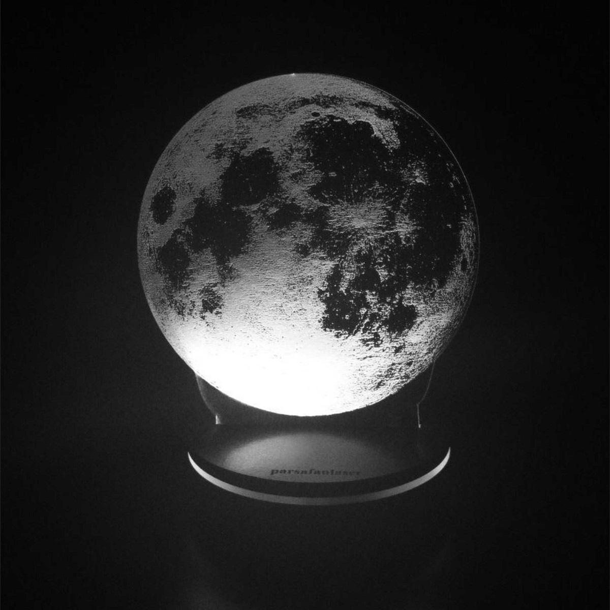 چراغ خواب پارسافن لیزر طرح کره ماه 16 رنگ ریموت دار