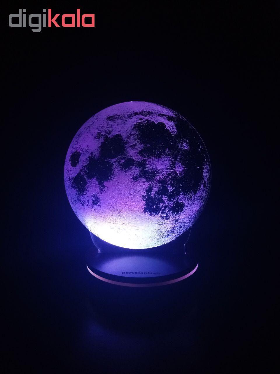 چراغ خواب پارسافن لیزر طرح کره ماه 16 رنگ ریموت دار main 1 1