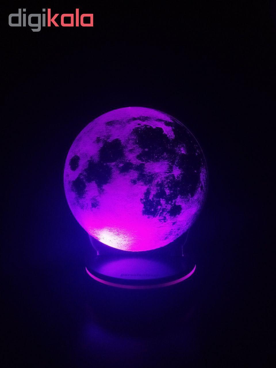 چراغ خواب پارسافن لیزر طرح کره ماه 16 رنگ ریموت دار main 1 2