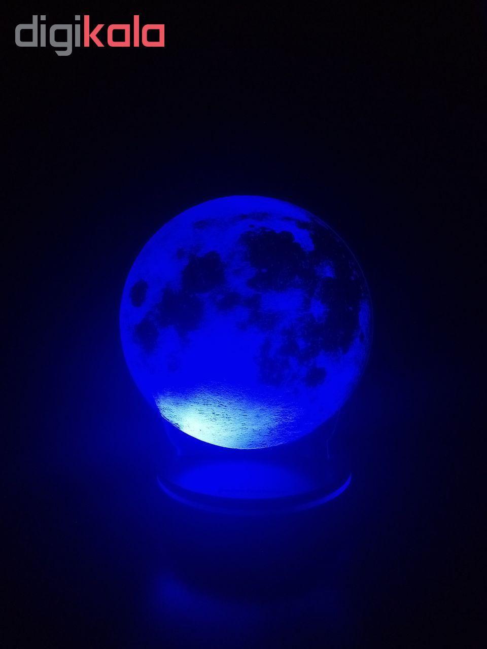 چراغ خواب پارسافن لیزر طرح کره ماه 16 رنگ ریموت دار main 1 3