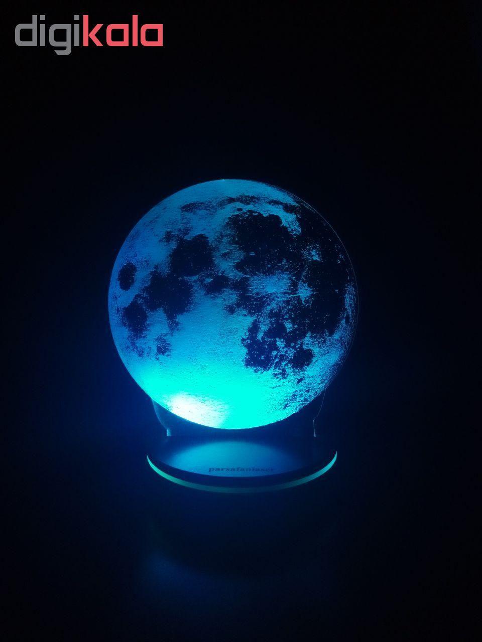 چراغ خواب پارسافن لیزر طرح کره ماه 16 رنگ ریموت دار main 1 4