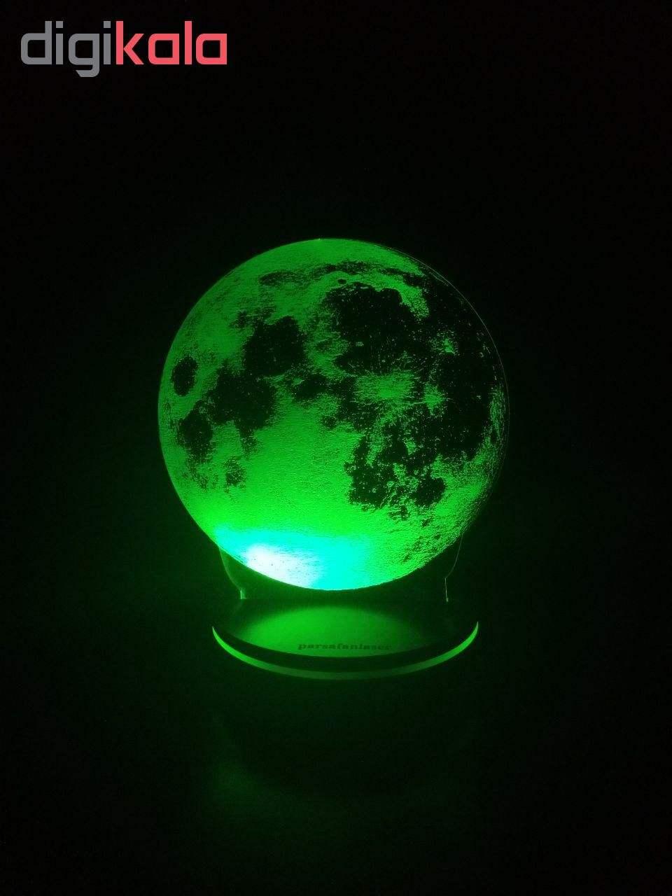 چراغ خواب پارسافن لیزر طرح کره ماه 16 رنگ ریموت دار main 1 5