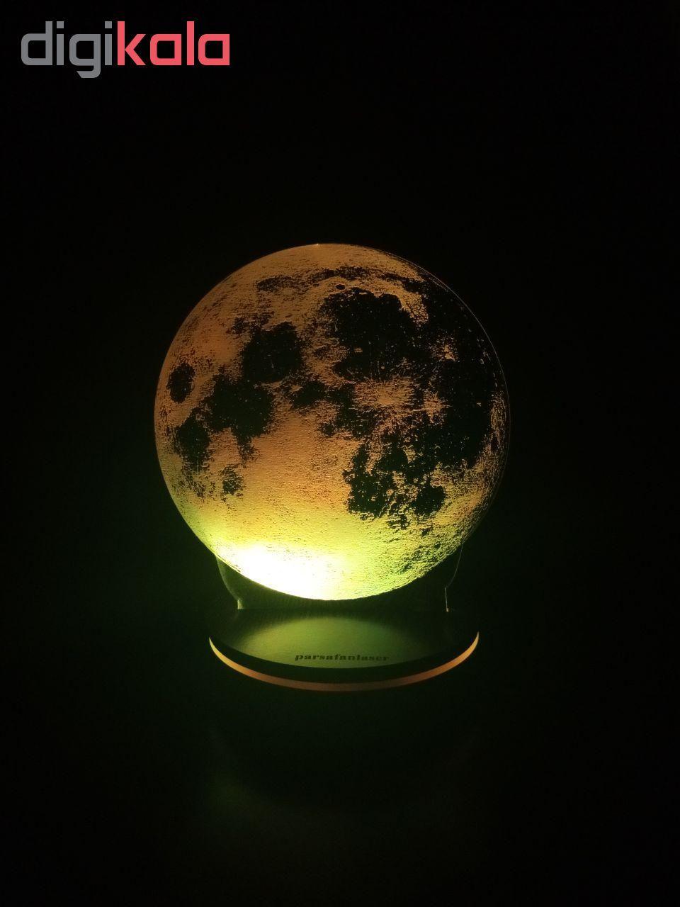 چراغ خواب پارسافن لیزر طرح کره ماه 16 رنگ ریموت دار main 1 6