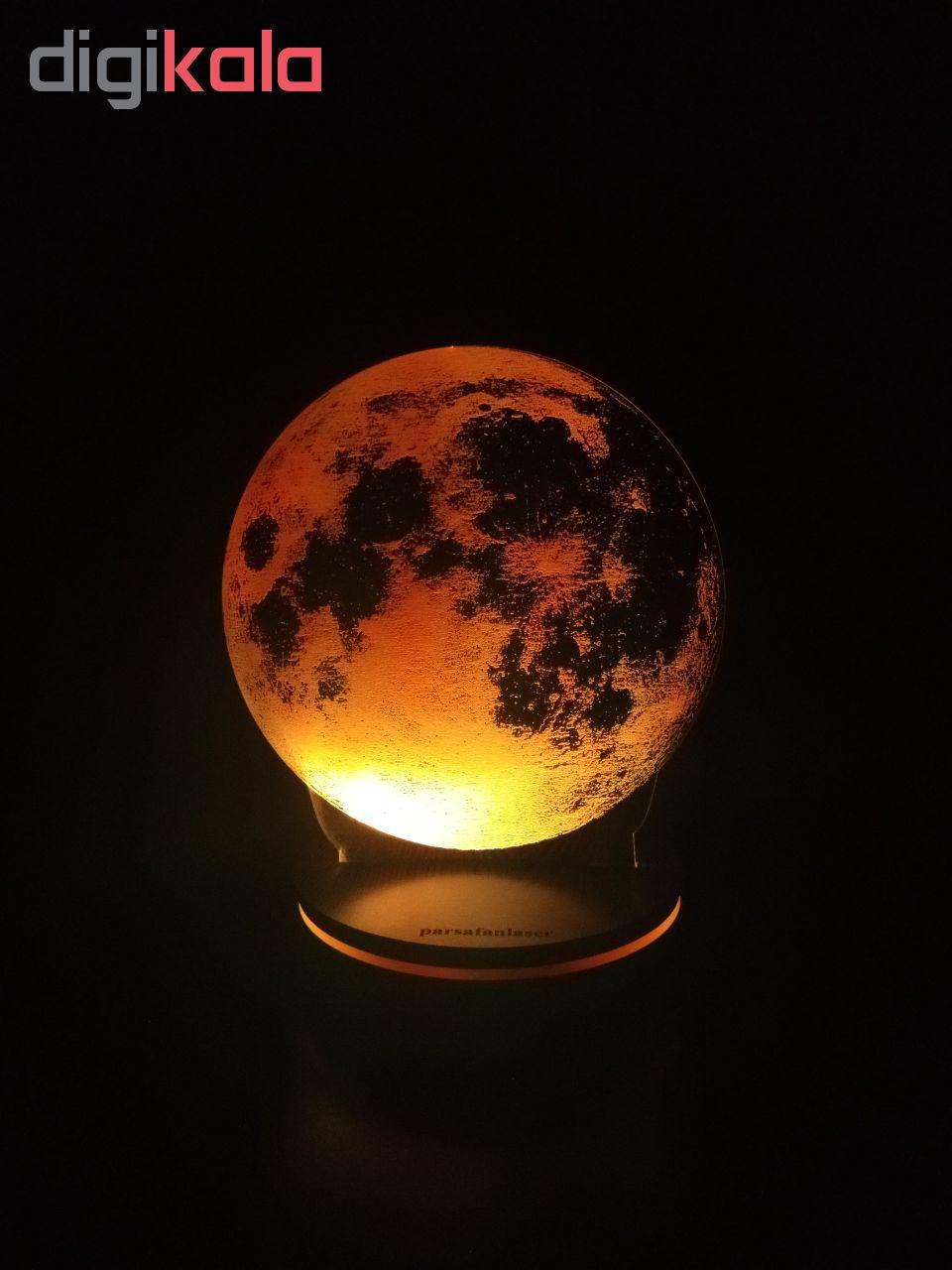 چراغ خواب پارسافن لیزر طرح کره ماه 16 رنگ ریموت دار main 1 7