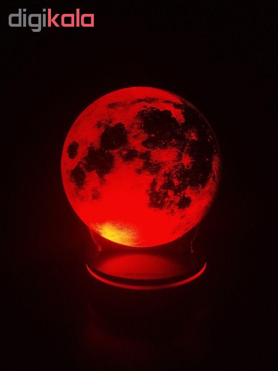 چراغ خواب پارسافن لیزر طرح کره ماه 16 رنگ ریموت دار main 1 8