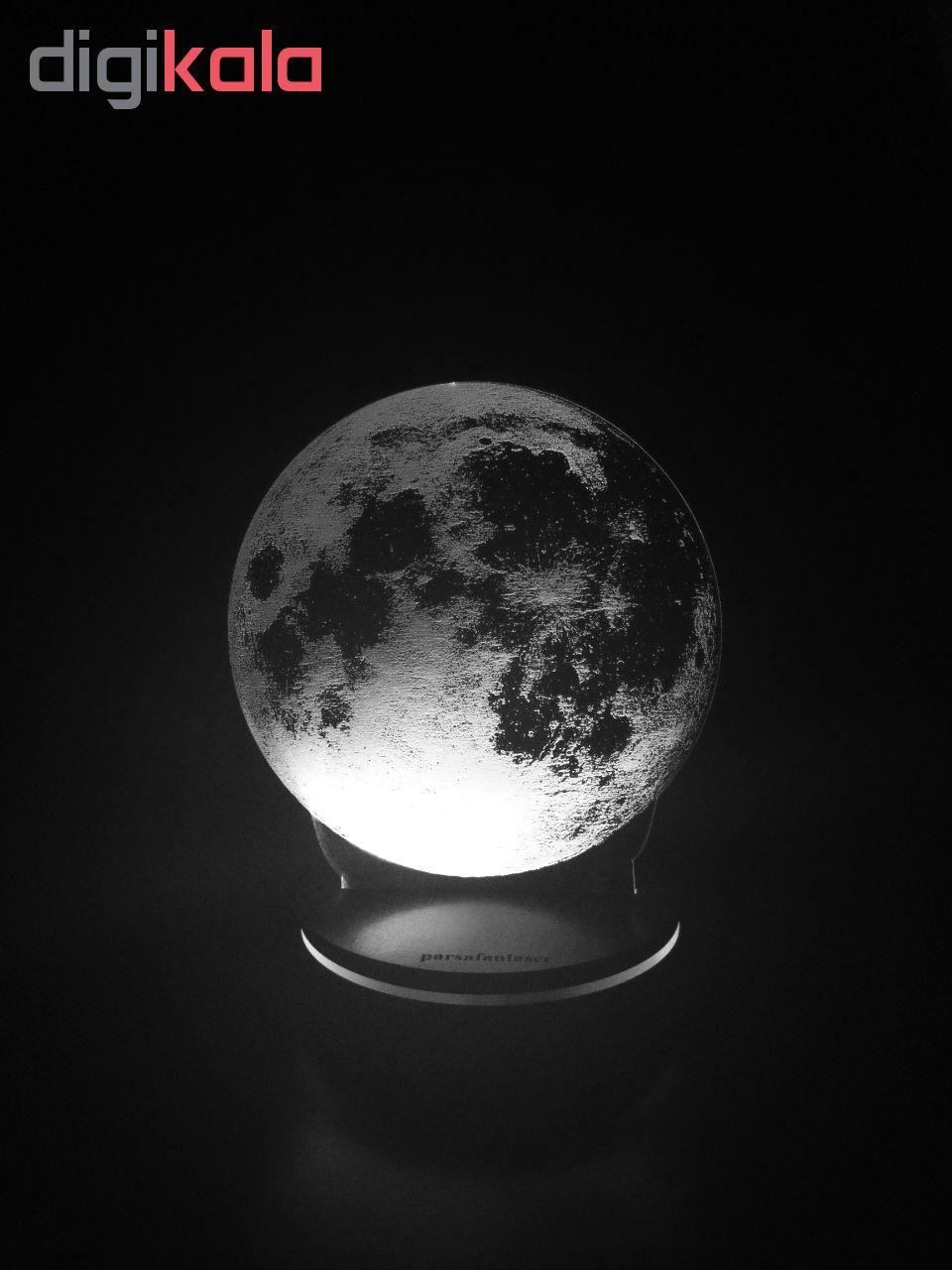 چراغ خواب پارسافن لیزر طرح کره ماه 16 رنگ ریموت دار main 1 9