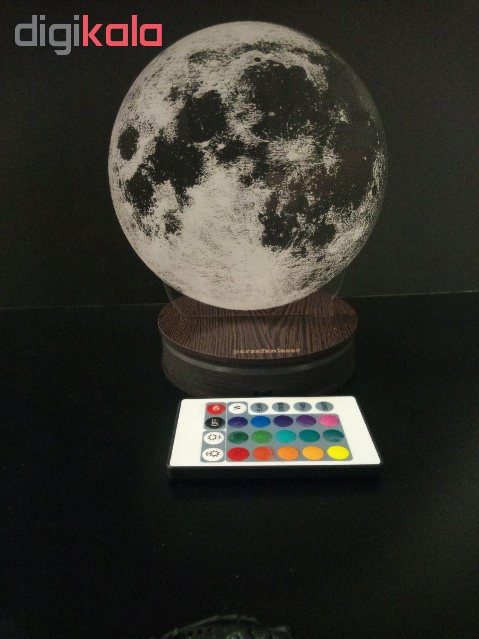 چراغ خواب پارسافن لیزر طرح کره ماه 16 رنگ ریموت دار main 1 10