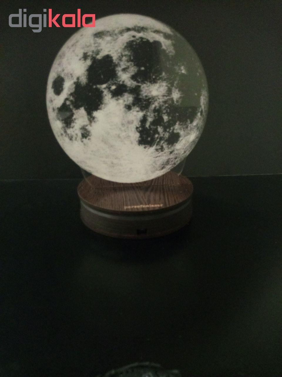 چراغ خواب پارسافن لیزر طرح کره ماه 16 رنگ ریموت دار main 1 11