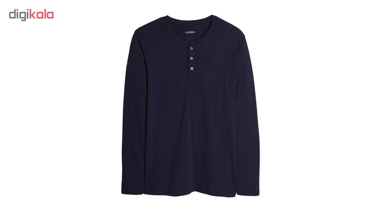 تی شرت آستین بلند  لیورجی مردانه مدل 109869