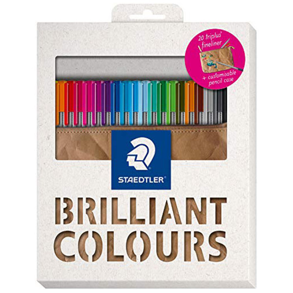 روان نویس 20 رنگ استدلر مدل  Briliant Colors 334