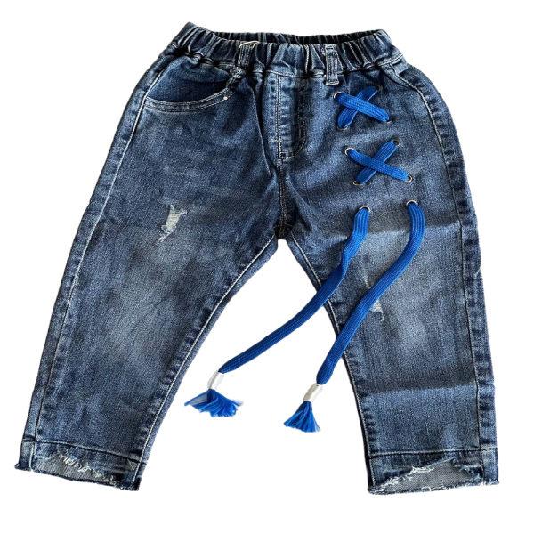 شلوار جین بچگانه مدل بند دار