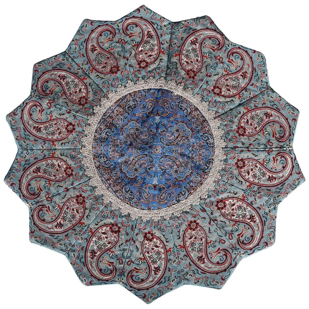 رومیزی ترمه حسینی یزد طرح خورشید مدل 20-33