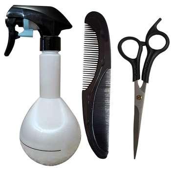 قیچی آرایشگاهی به همراه آبپاش و شانه مدل 1-12178  