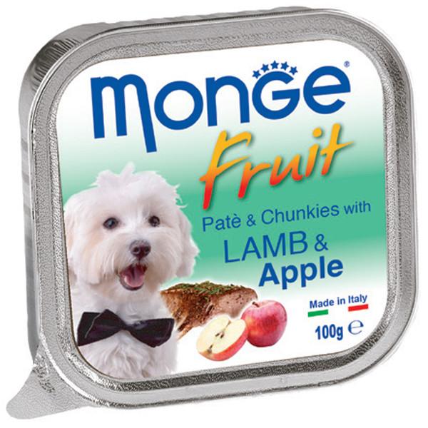 خوراک سگ مونگه مدل Pate & Chunks With Lamb & Apple-13222 با طعم بره و سیب وزن 100 گرم