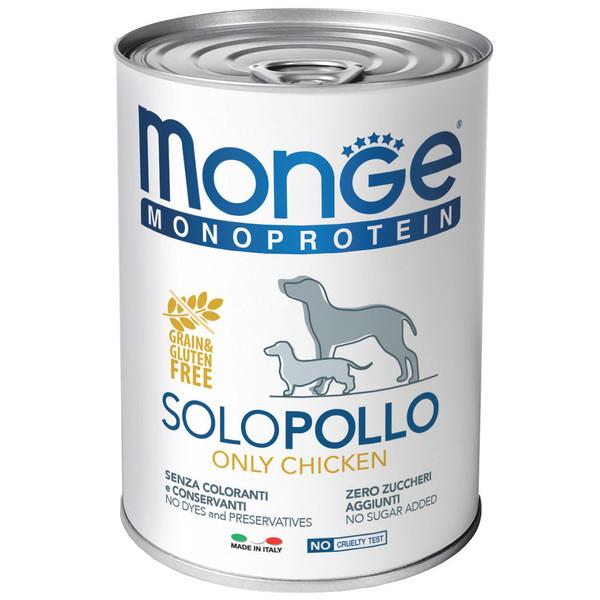 کنسرو سگ مونگه مدل Solo Chicken-14212 با طعم مرغ وزن 400 گرم