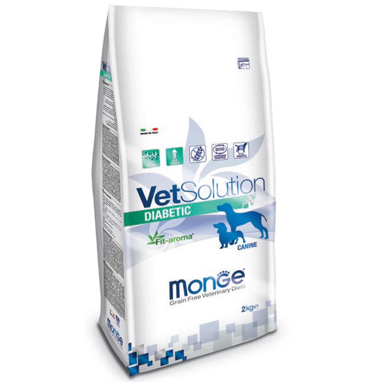 غذای خشک سگ مونگه مدل Diabetic-81276 وزن 2 کیلوگرم