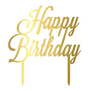 تاپر کیک مدل Happy Birthday کد CT010