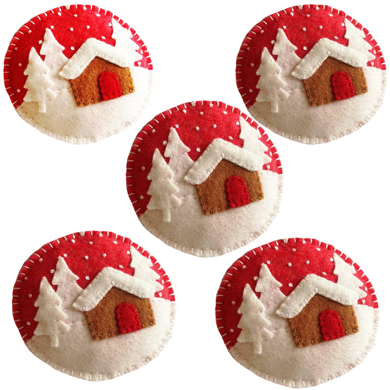 آویز درخت کریسمس هیاهو مدل سنت دی بسته 5 عددی