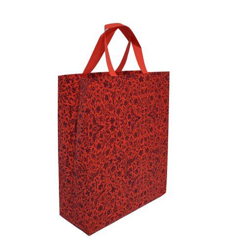 ساک دستی  دوستدار محیط زیست مدل گلستان کد 004 رنگ قرمز