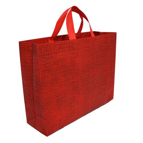 پاکت هدیه طرح چهارخونه رنگ قرمز