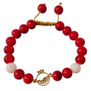 دستبند طلا 18 عیار کانیار گالری مدل انار 012