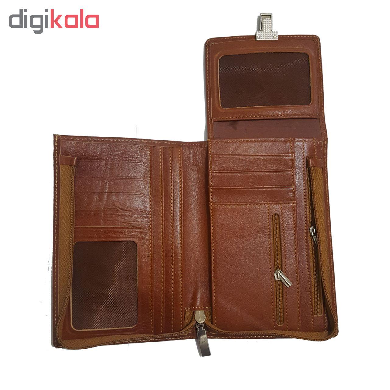 کیف پاسپورتی چرم زانکو مدل KP-503