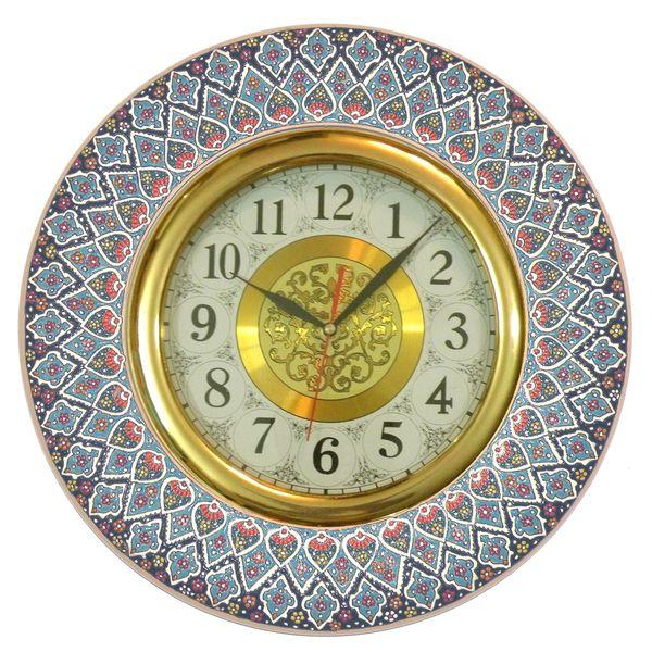 ساعت میناکاری مدل زرین سیما قطر 40 سانتی متر