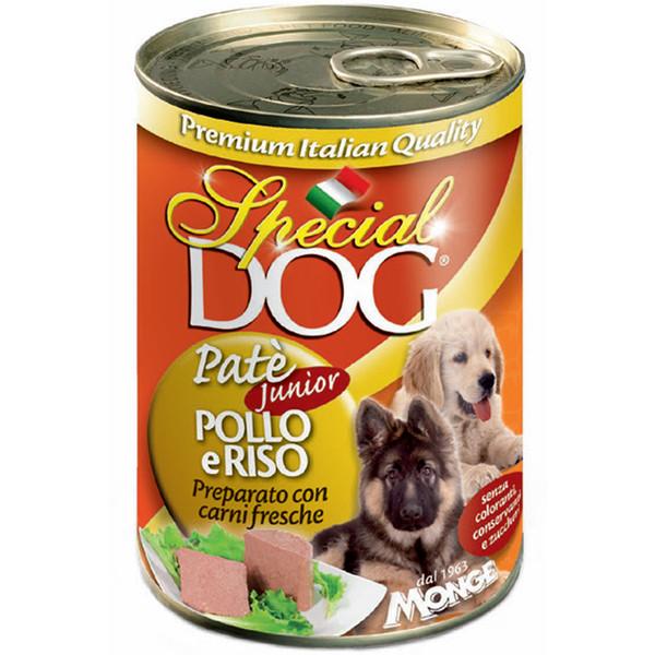کنسرو سگ اسپشیال داگ مدل Pate Junior Chicken & Rice-01069  با طعم مرغ و برنج وزن 400 گرم