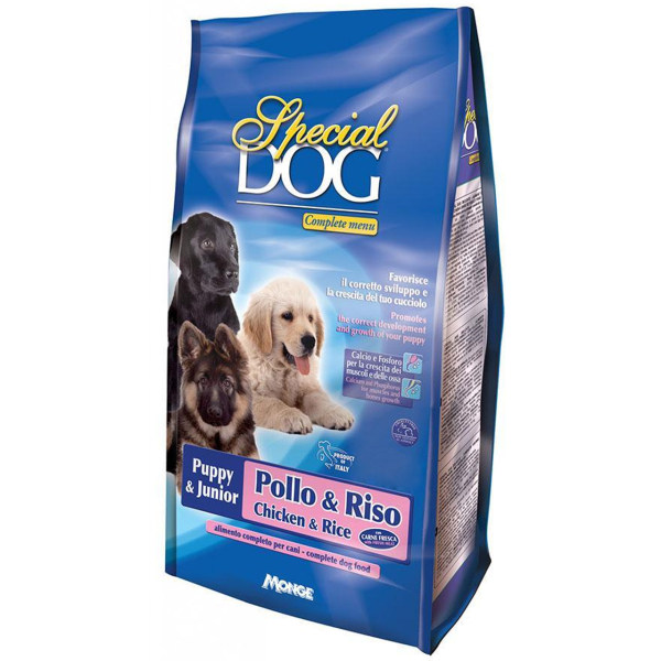 غذای خشک سگ اسپشیال داگ مدل Puppy & Junior Chicken & Rice-07597 با طعم مرغ و برنج وزن 15 کیلوگرم
