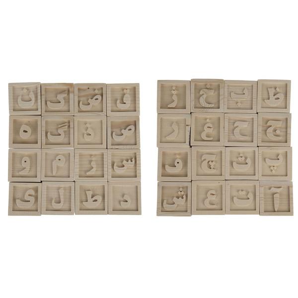 مکعب حروف الفبای فارسی کروماتیک  کد F