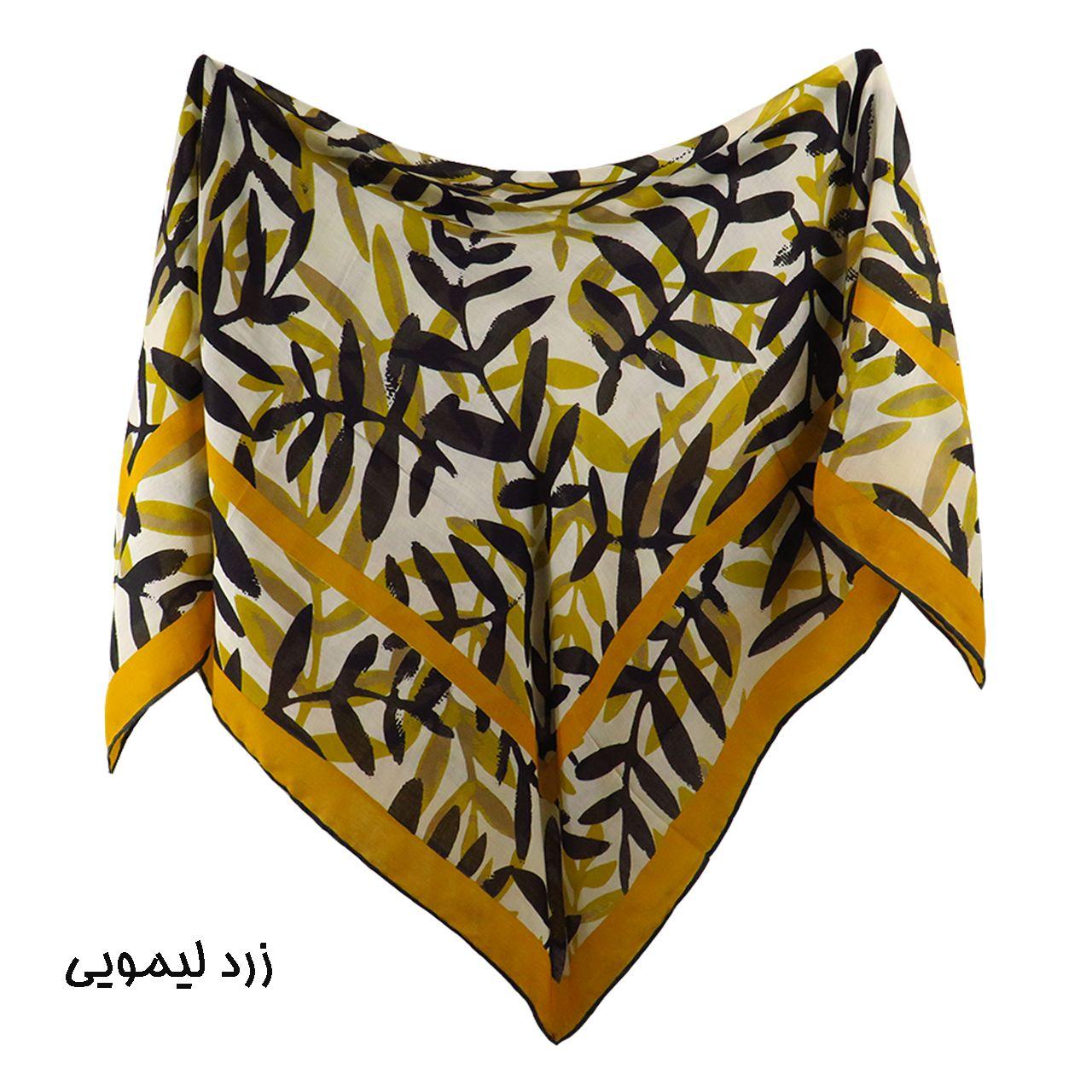 روسری زنانه لمیز مدل برگ  -  - 8