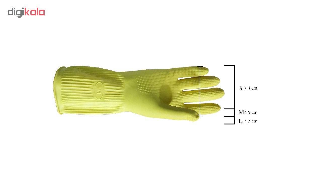 دستکش آشپزخانه  ویولت مدل ساق کوتاه سایز متوسط کد 01 main 1 3