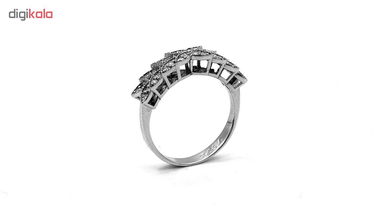 انگشتر طلا 18 عیار جواهری سون مدل 2050