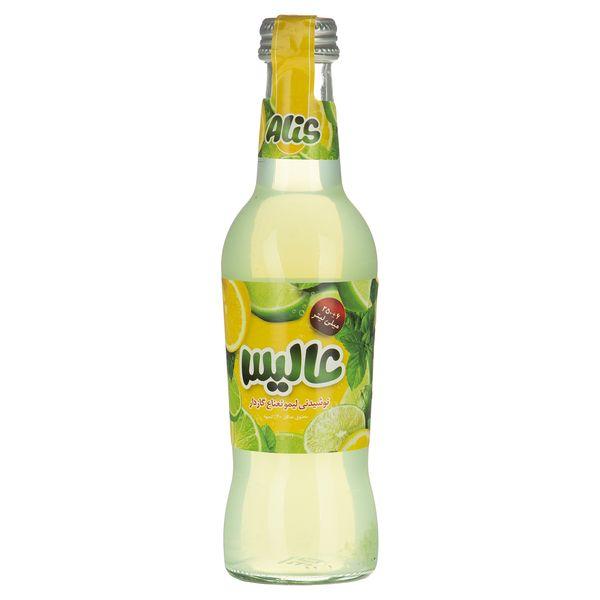نوشیدنی لیمو نعناع گازدار عالیس - 250 میلی لیتر