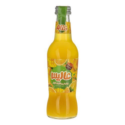 نوشیدنی پرتقال انبه گازدار عالیس مقدار 250 میلی لیتر