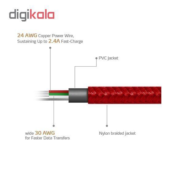 کابل تبدیل USB به microUSB ای دیتا مدل Sync And Charge طول 1 متر main 1 6
