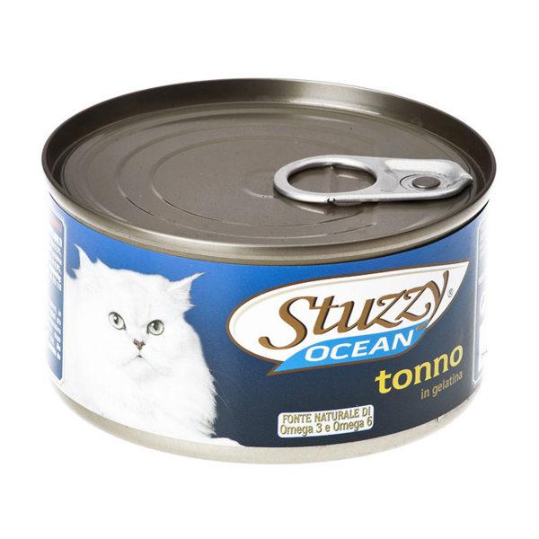 کنسرو غذای گربه استوزی مدل Tuna Jelly-20024 با طعم ماهی تن وزن 185 گرم