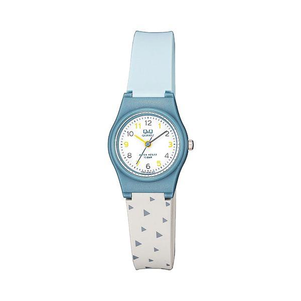 ساعت مچی عقربه ای بچگانه کیو اند کیو مدلvp47j035y به همراه دستمال مخصوص برند کلین واچ