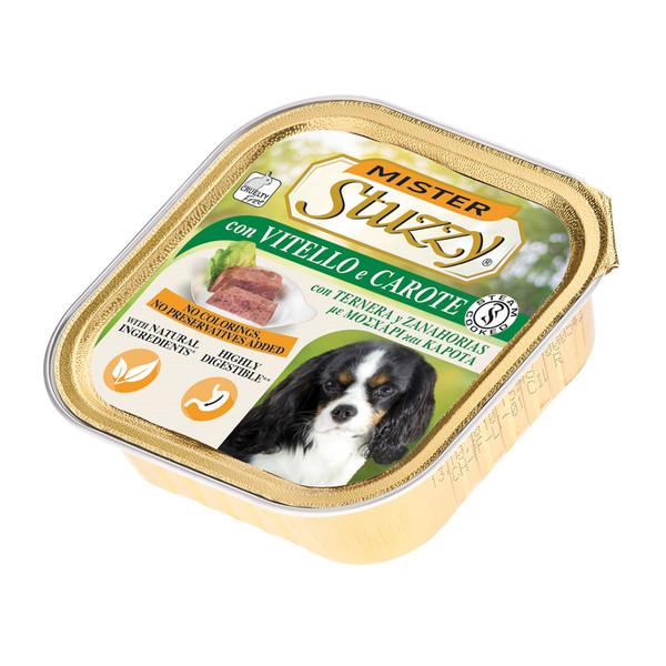 خوراک سگ استوزی مدل Veal & Carrots-10317 با طعم گوساله و هویج وزن 150 گرم