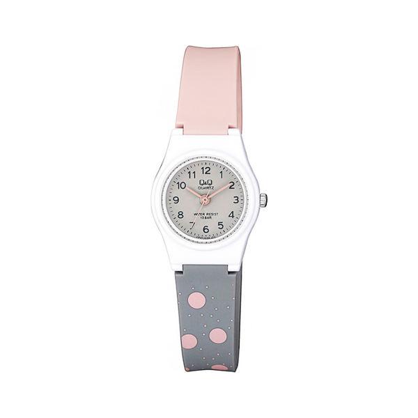 ساعت مچی عقربه ای بچگانه کیو اند کیو مدل vp47j038y به همراه دستمال مخصوص برند کلین واچ
