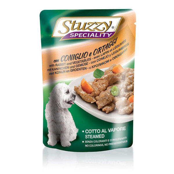 پوچ سگ استوزی مدل Pouch Rabbit & Vegetables-57116 با طعم خرگوش و سبزیجات وزن 100 گرم