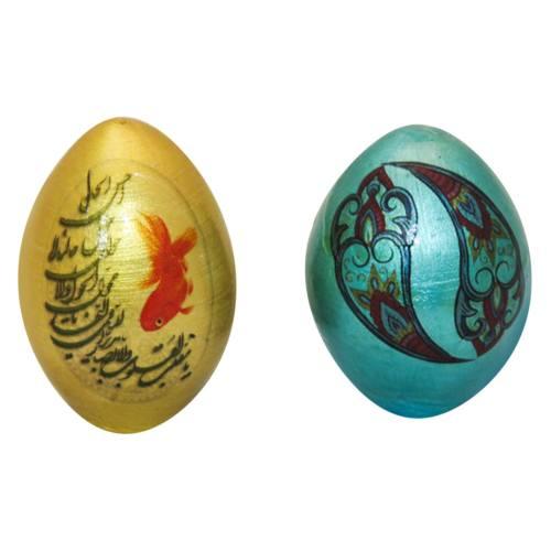 تخم مرغ تزیینی هفت سین آرت گالری مدل A3090 بسته 2عددی
