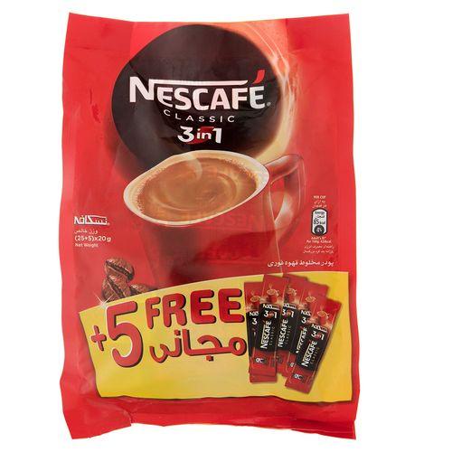 قهوه فوری کافی میکس نسکافه 3 در 1 بسته 5+25 عددی